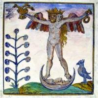 Rosarium Philosophorum, 1550.